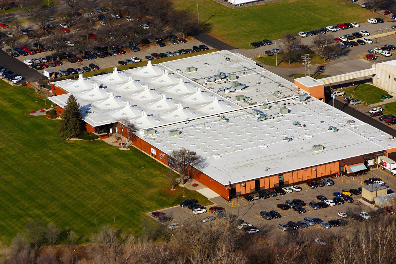 Commercial Roofing Job at Red Wing Shoe