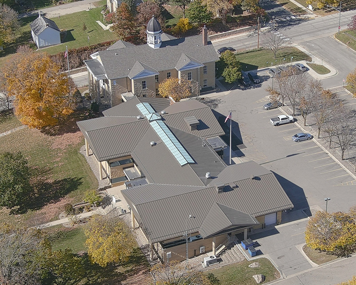 Dodge County Annex Rooftop Drone Photo4