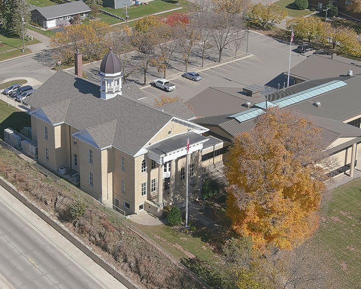 Dodge County Courthouse Rooftop Drone Photo2