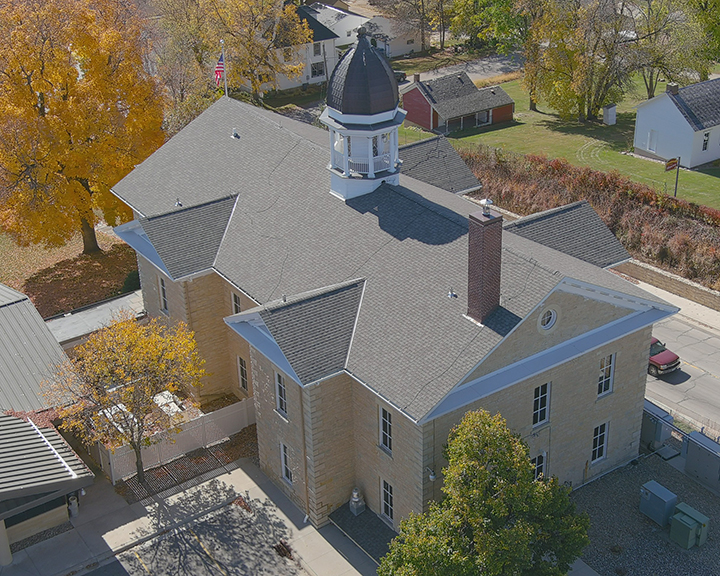 Dodge County Courthouse Rooftop Drone Photo3