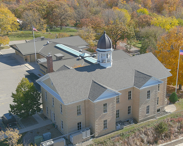 Dodge County Courthouse Rooftop Drone Photo4 - Schwickert's Project Profile